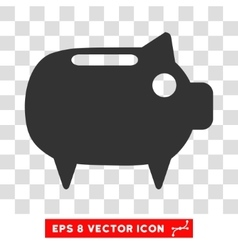 Piggy Bank Eps Icon vector