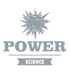 Power logo simple gray style vector