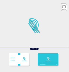 Premium initial r rr outline creative logo vector