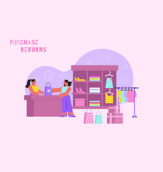 Purchase returns flat composition vector