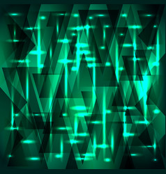 Rich aqua color pattern of shards and triangles vector