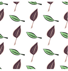 Seamless of leaves template abstract concept vector