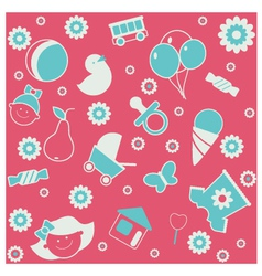 Seamless pattern baby vector image