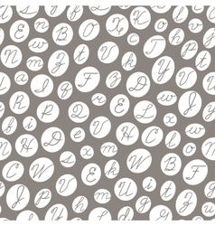 Seamless pattern with English cursive letters vector image vector image