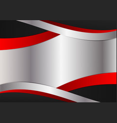 silver red and black color graphics design vector image