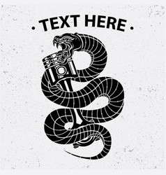 snake and piston shirt design vector image