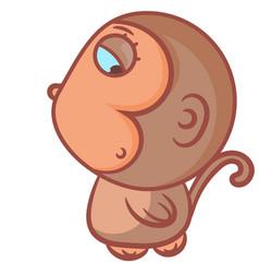 So cute little boy monkey vector