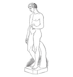Statue is an antique sculpture vintage engraving vector