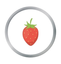 Strawberry icon cartoon Singe fruit icon vector