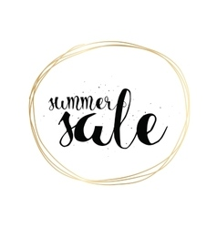 Summer sale hand drawn calligraphy for banner vector image