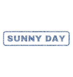 sunny day textile stamp vector image