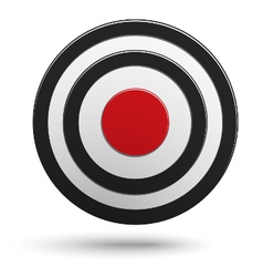 Target aim with red center isolated vector image