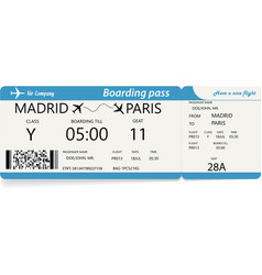 template of plane ticket for business trip vector image