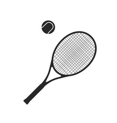 Tennis racquet with ball vector