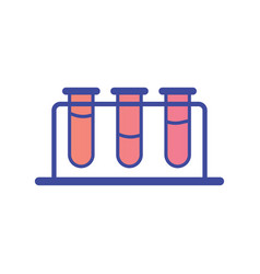 test tube flat icon sign symbol vector image