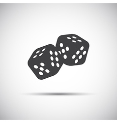 Two simple dices game icon vector image