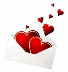 valentines envelope vector image vector image