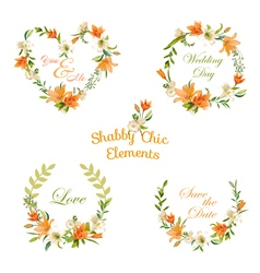 Vintage Floral Tags Labels and Banners vector image