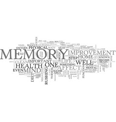 What can i do for memory improvement text word vector