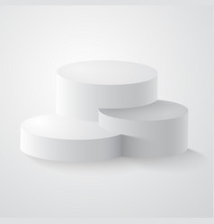 white round podium pedestal or platform vector image