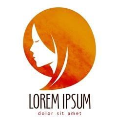 beauty salon logo design template Spa or vector image vector image