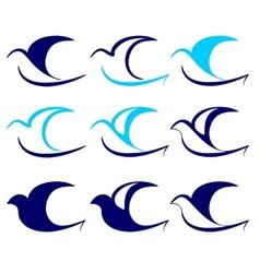 Bird icon set vector image vector image
