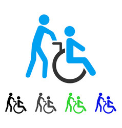 disabled person transportation flat icon vector image