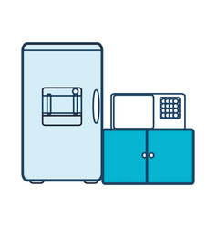 fridge and microwave icon vector image vector image