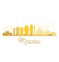 Macau city skyline golden silhouette vector