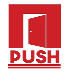 PUSH PULL SIGNS1 resize vector image vector image