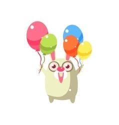 Rabbit Party Animal Icon vector image
