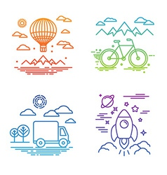 travel and transportation concepts vector image vector image