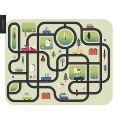 urban road map vector image