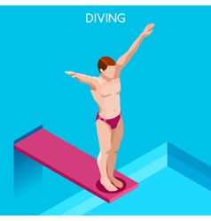 Diving 2016 Summer Games Isometric 3D vector image