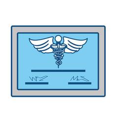 Medical diploma certification vector