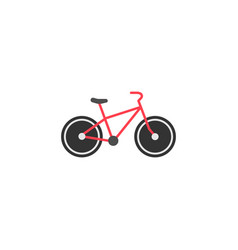 bicycle solid icon navigation and transport sign vector image