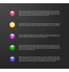 list of options vector image vector image