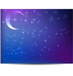 Night background with moon vector image vector image