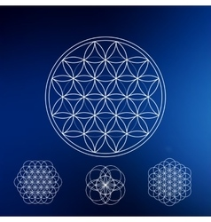 Sacred geometry Hipster symbols and elements vector image vector image