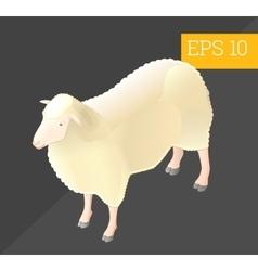 sheep isometric vector image vector image