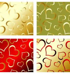 valentines pattern vector image vector image