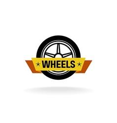 Wheel store logo vector image