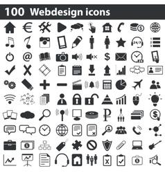 100 webdesign icons set vector image