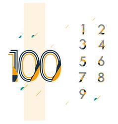 100 year retro anniversary set celebration vector