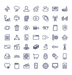 49 internet icons vector