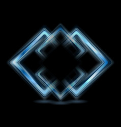 Abstract blue squares logo vector