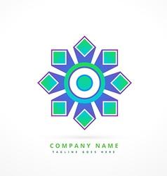 abstract logo symbol shape design art vector image