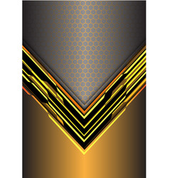 abstract yellow arrow light digital metallic vector image