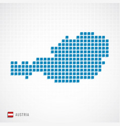 Austria map and flag icon vector