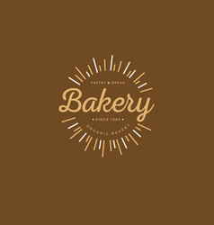 Bakery logo morning pastries vector